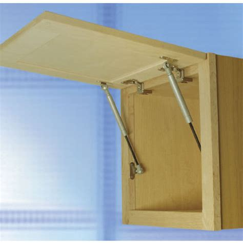 swing up cabinet door e z open swing up fittings lid stay silver