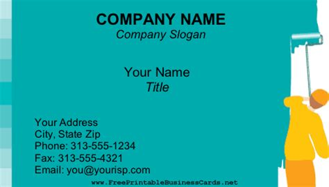 painter business card template painting business card