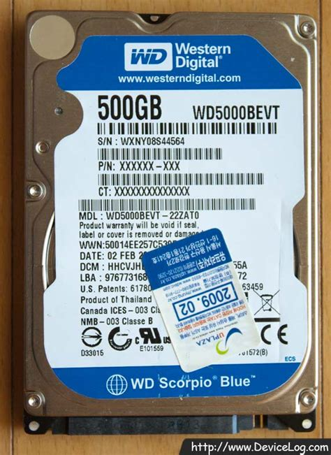Hardisk Laptop Wd Scorpio Blue 500gb wd scorpio blue 500gb wd5000bevt devicelog