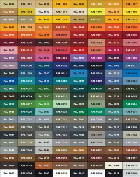 Colore Canna Di Fucile Ral by Paint Colors Rack Engineering Division