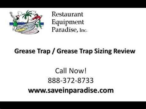 under grease trap sizing grease trap and grease interceptor sizing youtube