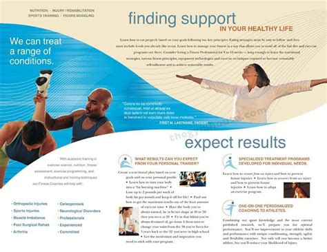 Health Coach Brochure Templates by The Proportion In This Brochure Is There S No Sense