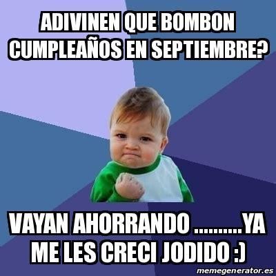 imagenes cumpleaños septiembre meme bebe exitoso adivinen que bombon cumplea 241 os en