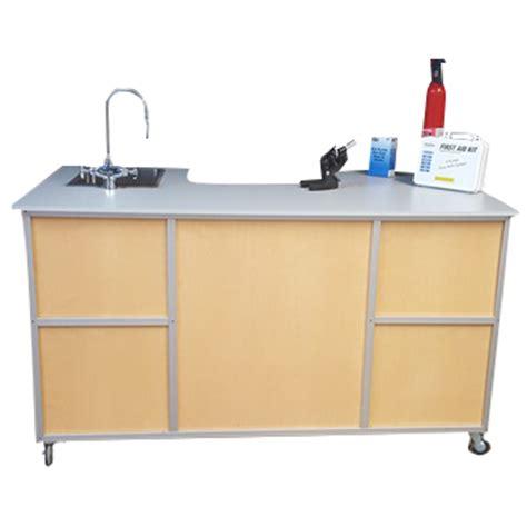 portable shoo sink with sprayer science workstation instructor s desk model pse 2049