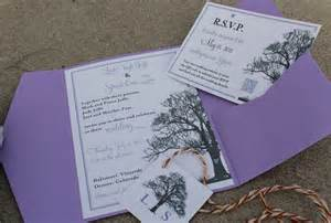 tree theme wedding invitation rsvp card monogram design