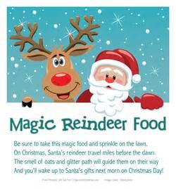 Magic reindeer food sprinkle on your lawn on christmas eve