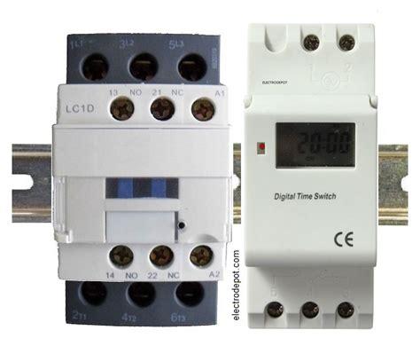 contactor 30a 40a 50a 4 pole 3 pole modular silent