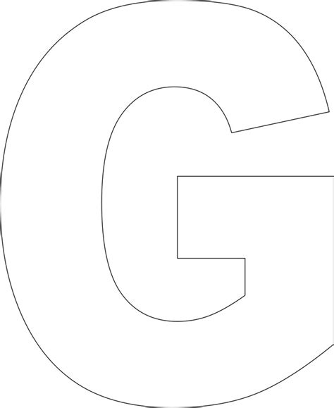 printable letter templates 7 best images of large printable letter g printable