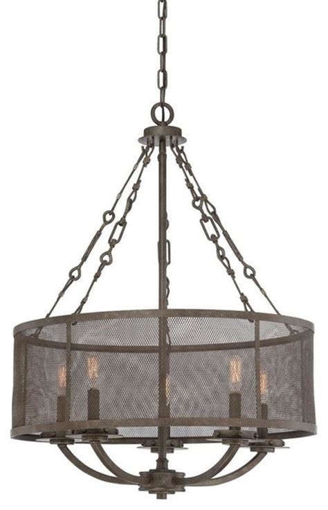 Metal Drum Chandelier Five Light Metal Shade Galaxy Bronze Drum Shade Chandelier Transitional Chandeliers By We