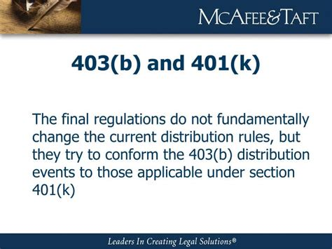 section 401 k ppt oklahoma city community college 403 b update
