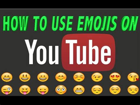 emoji youtube comments how to use emoji on youtube comments easy where to