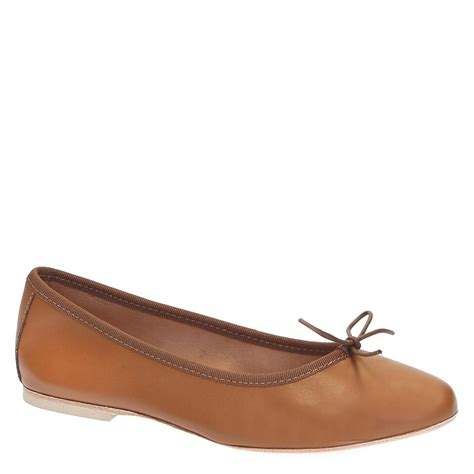 Italian Handmade Flats - handmade light brown soft leather ballet flats ballerinas