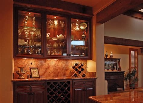 built in wine bar cabinets bar