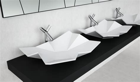 Origami Sink - applying the of origami into architectural interior