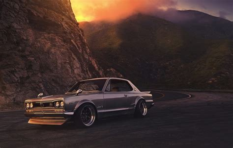 nissan 2000 gtx wallpaper car skyline old 2000 sunset nissan front
