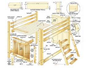 Lofted Bed Dorm Loft Bed Plans Differ From Bunk Bed Plans