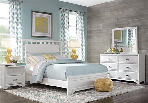 belcourt white  pc queen lattice bedroom panel