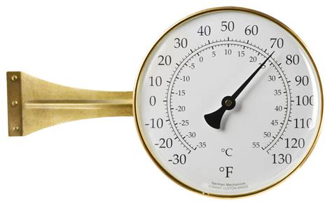 Large Outdoor Thermometer Decorative by Large Side Mount Outdoor Thermometer