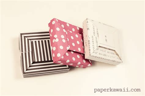 origami wrapping paper gift box origami bow gift box tutorial paper kawaii