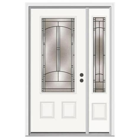 Jeld Weld Exterior Doors Jeld Wen 36 In X 80 In Idlewild 3 4 Lite Primed Premium Steel Prehung Front Door With Right