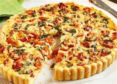 vegetarian shortcrust pastry recipe recipe cherry tomato and basil quiche sainsbury s