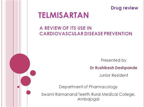 Telmisartan In Cvd Authorstream Morbidity And Mortality Presentation Template