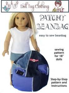ag doll bean bag chair doll tag bean bag chair pattern for american 174 dolls