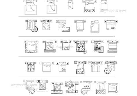 Floorplan Free beds plan dwg free cad blocks download