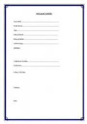 english worksheets personal details