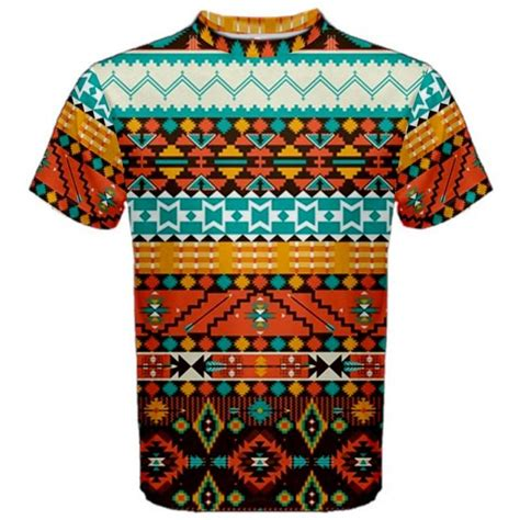 aztec pattern t shirt aztec tribal pattern sublimated sublimation t shirt s m l