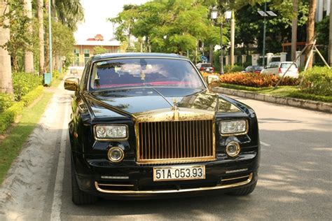 plated rolls royce car rolls royce phantom 24k gold plated