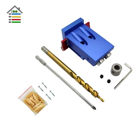 Autotoolhome 2 Holes Pocket Hole Jig Kit System For Kreg 9