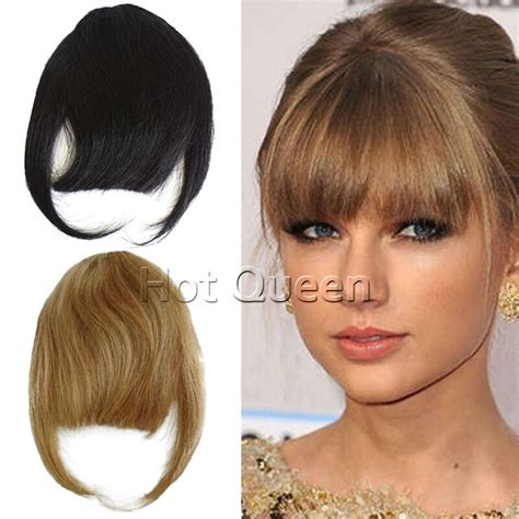bang human hair pieces for hair thinning at temples hot queen bangs 100 real brazilian virgin hair clips in