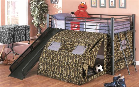 bed with slide and tent hollywood home g i bunk bed with slide and tent by oj