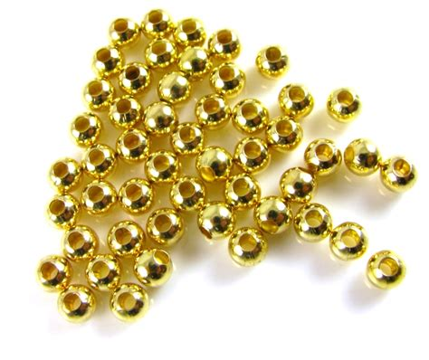 bead by bead 3mm gold plated bag of 50 spoilt rotten