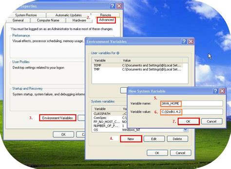 how to config java environment variable in windows xp