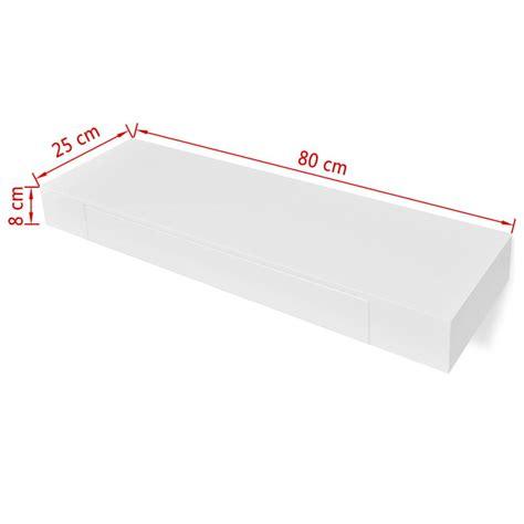 mensola per libri articoli per mensola per pareti con cassetto bianco mdf