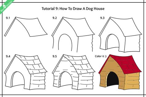 how to draw a dog house step by step guide on how to draw a dog for kids