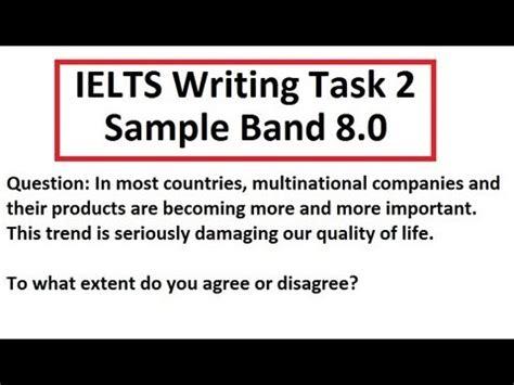 ielts academic writing task 2 sle essays ielts writing test sle band 8 task 2 academic 8 5