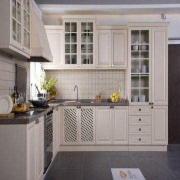 Kitchen Cabinet Overlay by White Color American Style Solid Wood Kitchen Furniture