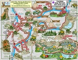 silverton ouray jeeping atv trails map colorado