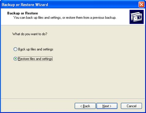 backup restore windows system state