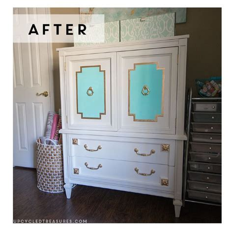 Hometalk   A $30 Mid Century Armoire Gets a Makeover