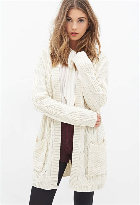 Forever21 Soft Knit T3010 3 longline cardigan tulips clothing