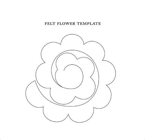 felt shape templates sle flower temlate 6 documents in pdf
