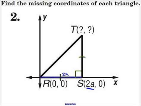 Find On By Find The Missing Coordinates