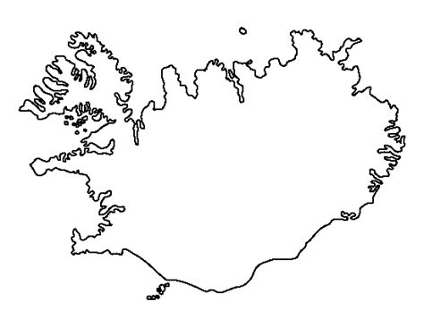 iceland map coloring page iceland pattern use the printable outline for crafts