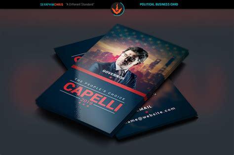 political business card templat sle re election caign postcard 187 designtube