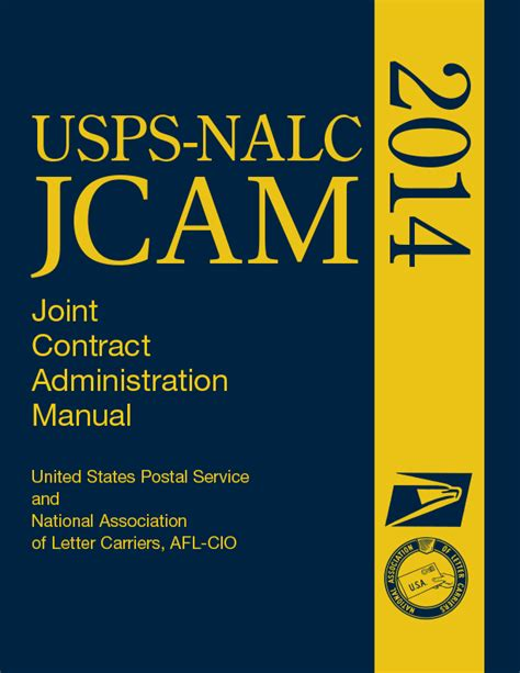 United States Letter Carriers Mba by Usps Nalc Joint Contract Administration Manual Jcam Now