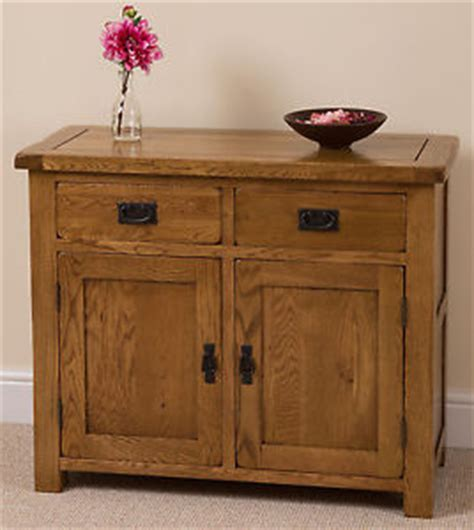 cotswold rustic solid oak small sideboard cabinet dining